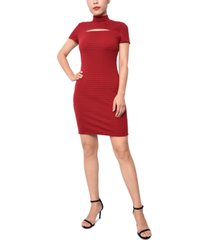 planet gold juniors' cutout bodycon dress