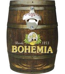abridor de garrafa barril bohemia kasa ideia - multicolorido - dafiti