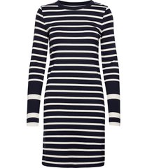 d1. detail stripe jersey dress jurk knielengte blauw gant