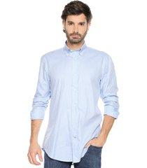 camisa azul/blanco preppy ml cfit cuadros bd