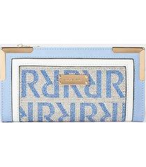 river island womens blue ri monogram embellished purse
