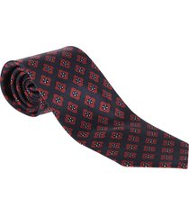 red and blue silk tie