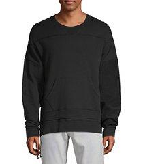 textured stretch sweatshirt