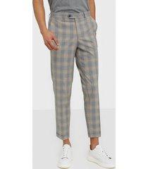 premium by jack & jones jprblakevin check sid trouser byxor grå