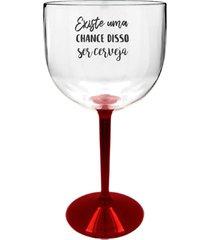 6 taã§as gin transparente com base vermelha personalizada para live - transparente - dafiti