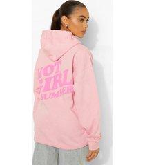 hoodie met rugopdruk, light pink