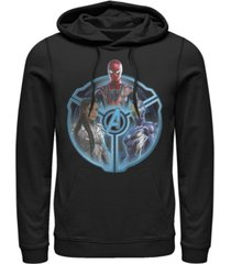 marvel men's avengers endgame triple hero wheel, pullover hoodie
