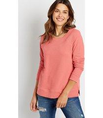 maurices womens solid crew neck sweatshirt orange