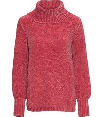 maglione a collo alto in ciniglia (fucsia) - bodyflirt