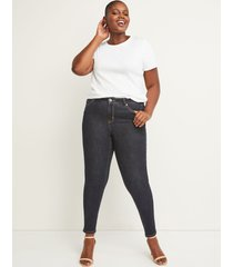 lane bryant women's signature fit skinny jean - rinse dark wash 12 x long dark denim