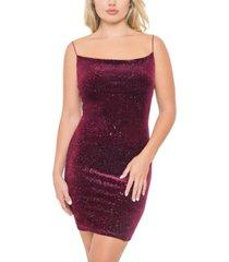 b darlin juniors' glitter velvet dress