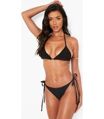 gekruiste driehoekige bikini top, black