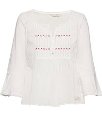 alma blouse blus långärmad vit odd molly