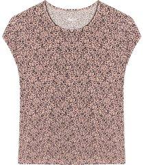 camiseta m/c con estampado animal print