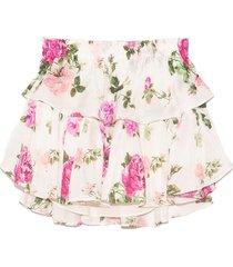 ruffle mini skirt in ballet blush