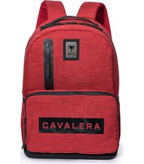 bolsa casual vermelha cavalera mochila feminina mark original