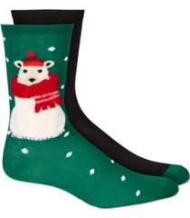 hue women's 2-pk. stocking stuffer crew socks