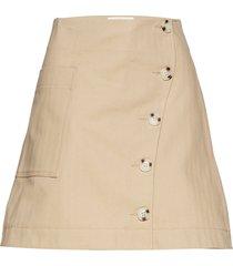 anesia skirt kort kjol beige wood wood