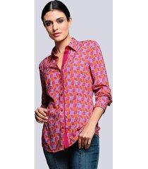 blouse alba moda koraal::rood
