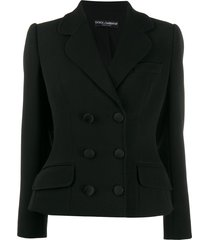dolce & gabbana double-breasted structured jacket - black