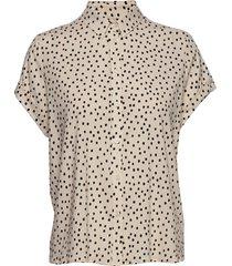 majan ss shirt aop 9942 overhemd met korte mouwen zwart samsøe samsøe