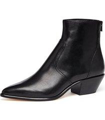 joni low western bootie in black