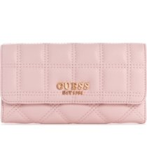 guess kamina quilted clutch wallet