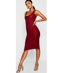 longline square neck midi dress, wine
