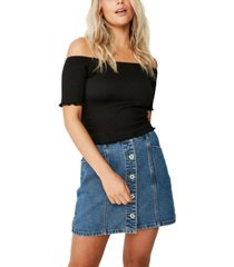 cotton on justine off the shoulder shirred top