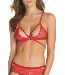 women's honeydew intimates lucy bralette, size medium - red