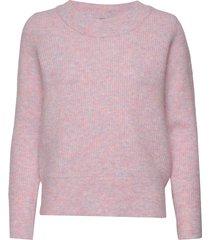slfsif ls knit o-neck b gebreide trui roze selected femme