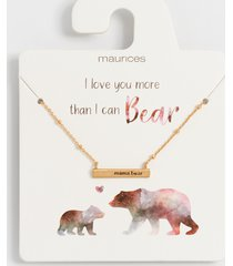 maurices womens dainty gold mama bear bar necklace