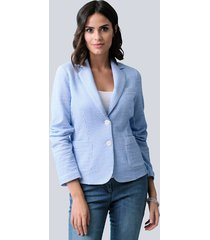 blazer alba moda lichtblauw::wit