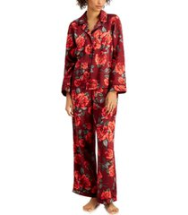 inc satin pajama & headband 3pc set, created for macy's
