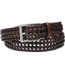 fossil myles braid leather belt