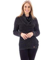blusa de tricô com gola alta sumaré 31172 - feminino