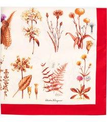 salvatore ferragamo women's cabinet silk scarf - pink