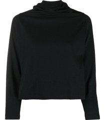 maison martin margiela pre-owned 2000s high-neck cropped sweatshirt -
