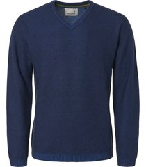 no excess pullover, v-neck, plated, mesh knit royal