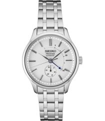 seiko men's automatic presage stainless steel bracelet watch 42mm