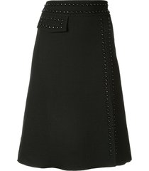giambattista valli stud embellished a-line skirt - black