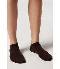 calzedonia unisex cashmere no-show socks man brown size 34-36
