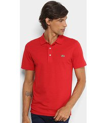 camisa polo lacoste logo super light masculina