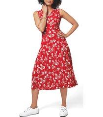 women's leota rosemary sleeveless dress, size small - red