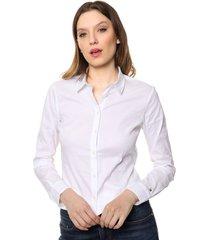 camisa blanca tommy hilfiger amy str shirt ls w1