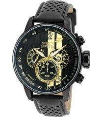 reloj invicta 19289 negro cuero hombre