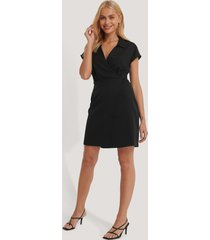 trendyol double breasted collar dress - black