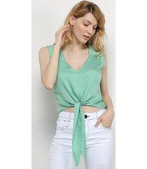 blusa acostamento amarração feminina
