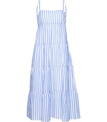 stripe tiered dress beach wear blauw seafolly