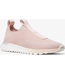 mk sneaker bodie slip-on in mesh con logo - rosa tenue (rosa) - michael kors